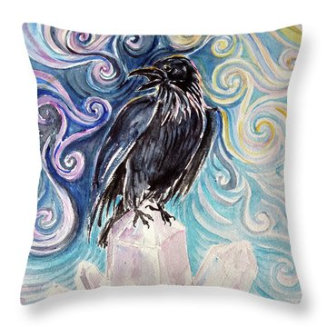 Raven Magic Throw Pillow