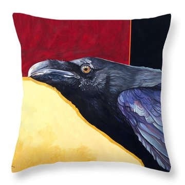 Raven Of The Tomorrow Wings Throw Pillow