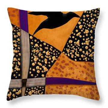 Raven Paints Light Throw Pillow