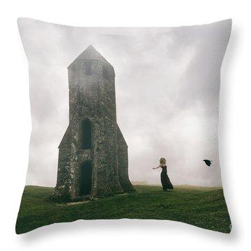 Raven Queen Throw Pillow