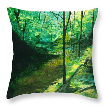 Raven Rocks 3 Throw Pillow