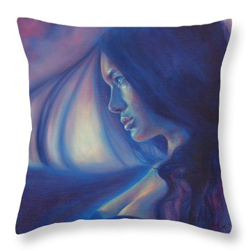 Raven Sunrise Throw Pillow