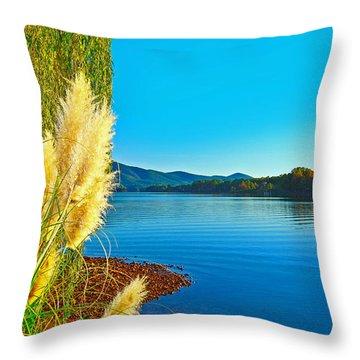 Ravenna Grass Smith Mountain Lake Throw Pillow