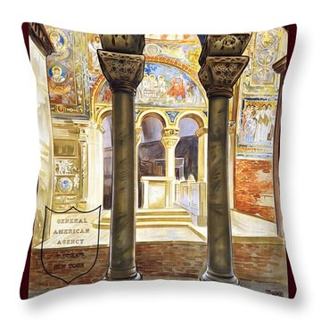 Ravenna, Travel Poster 1925 Throw Pillow