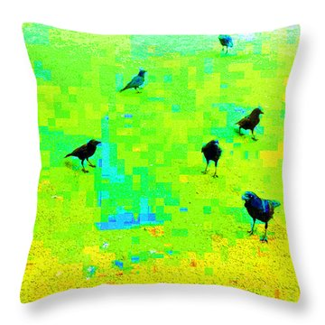 Ravens At Dick's Drive-in Throw Pillow