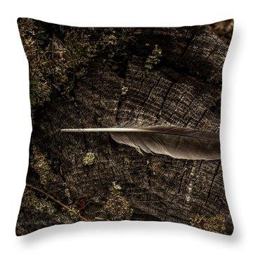 Ravens Feather Throw Pillow