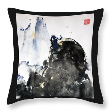 Raven's Mountain Throw Pillow