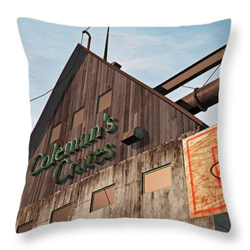 Throw Pillow featuring the painting Game On by Peter J Sucy