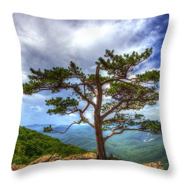 Ravens Roost Tree Throw Pillow