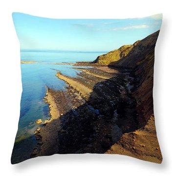 Ravenscar Cliffs Throw Pillow by Svetlana Sewell