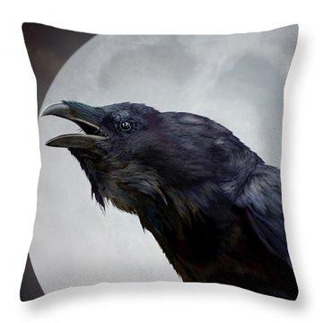 Ravensong Throw Pillow