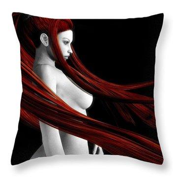Ravishing Red Throw Pillow by Alexander Butler