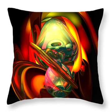 Raw Fury Abstract Throw Pillow by Alexander Butler