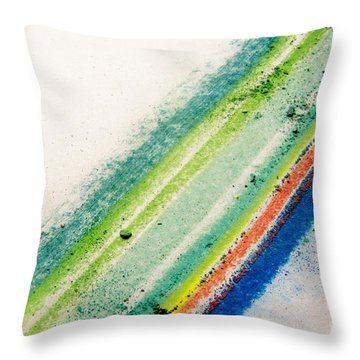 Throw Pillow featuring the pastel Raw by Kristine Nora