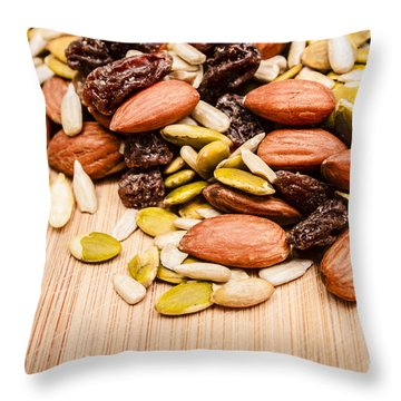 Raw Organic Nuts And Seeds Throw Pillow