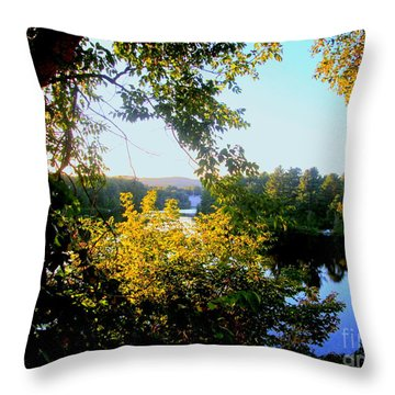 Throw Pillow featuring the photograph Rawdon by Elfriede Fulda