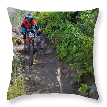 Rawhide Drop #109 Throw Pillow by Matt Helm