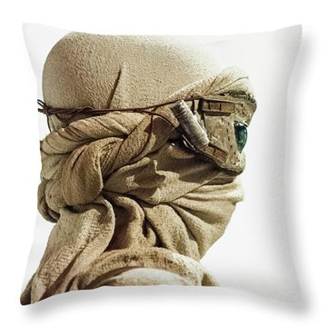 Throw Pillow featuring the photograph Ray From The Force Awakens by Micah May