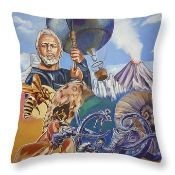 Ray Harryhausen Tribute The Mysterious Island Throw Pillow by Bryan Bustard