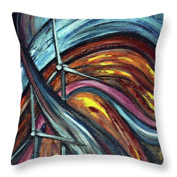Throw Pillow featuring the painting Ray Of Hope 2 by Harsh Malik