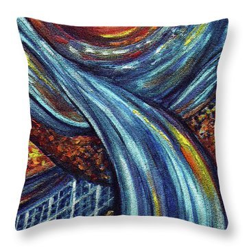 Throw Pillow featuring the painting Ray Of Hope 3 by Harsh Malik