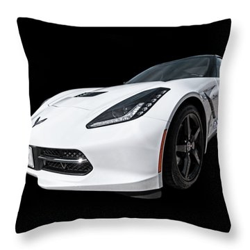 Ray Of Light - Corvette Stingray Throw Pillow