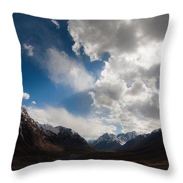 Ray Of The Sky Throw Pillow by Konstantin Dikovsky