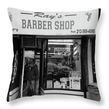 Ray's Barbershop Throw Pillow