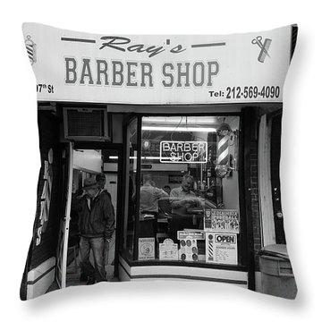 Ray's Barbershop Throw Pillow