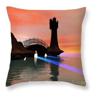 Rays Throw Pillow by Corey Ford