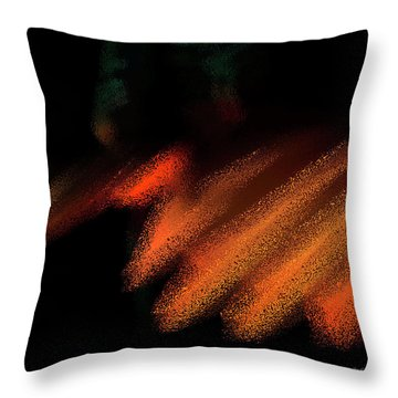Rays In Orange And Gold Throw Pillow