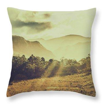 Rays Of Dusk Throw Pillow