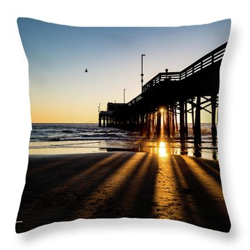 Rays Of Evening Throw Pillow