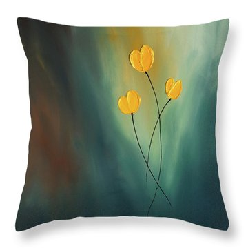 Throw Pillow featuring the painting Rays Of Hope by Carmen Guedez