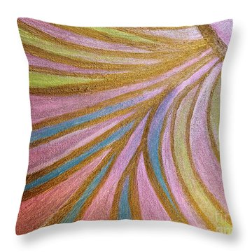 Rays Of Hope Throw Pillow by Rachel Hannah