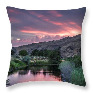 Rays Of Sunset Throw Pillow by Brad Stinson