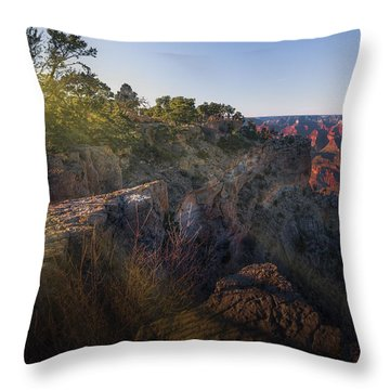 Rays Over The Canyon  Throw Pillow