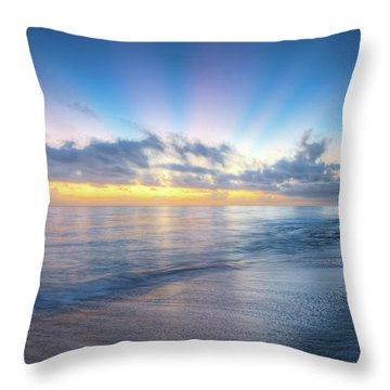 Throw Pillow featuring the photograph Rays Over The Reef by Debra and Dave Vanderlaan