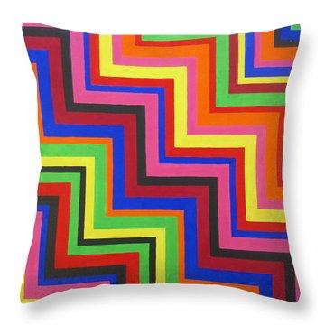 Razzmatazz Throw Pillow by Oliver Johnston