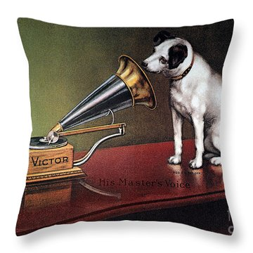 Rca Victor Trademark Throw Pillow