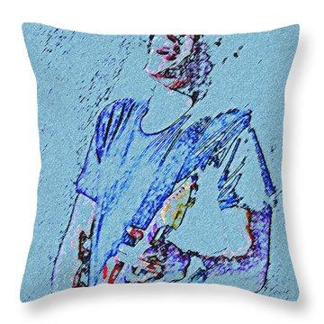Reach Down Deep Throw Pillow by John Travisano