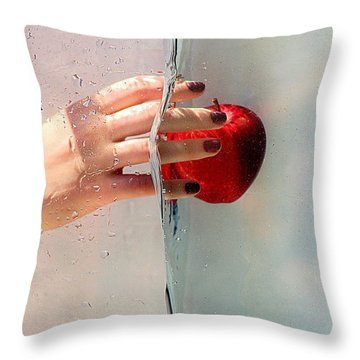 Reach For The Apple Throw Pillow