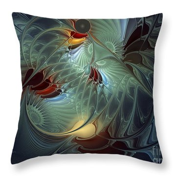 Reach For The Moon Throw Pillow