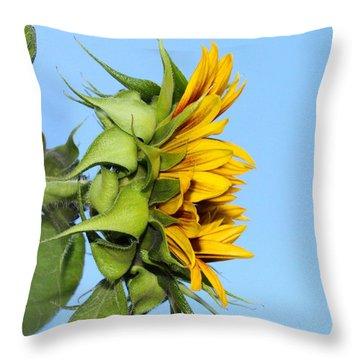 Reaching Sunflower Throw Pillow