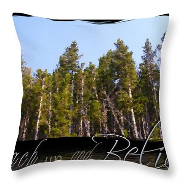 Throw Pillow featuring the photograph Reach Up And Believe by Susan Kinney