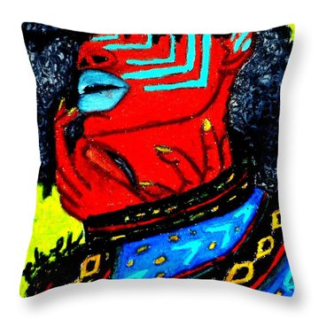 Throw Pillow featuring the painting Reach Within by Tarra Louis-Charles