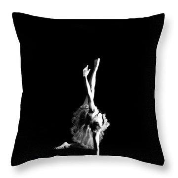 Reaching Ballerina Throw Pillow