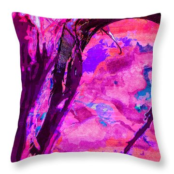 Reaching Beyond The Blue Throw Pillow
