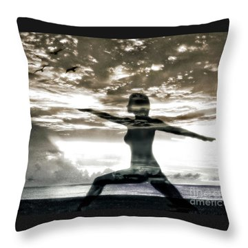 Reaching For Sunset Throw Pillow