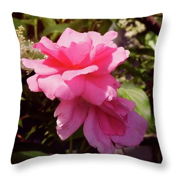 Reaching For The Sky Wild Rose Throw Pillow